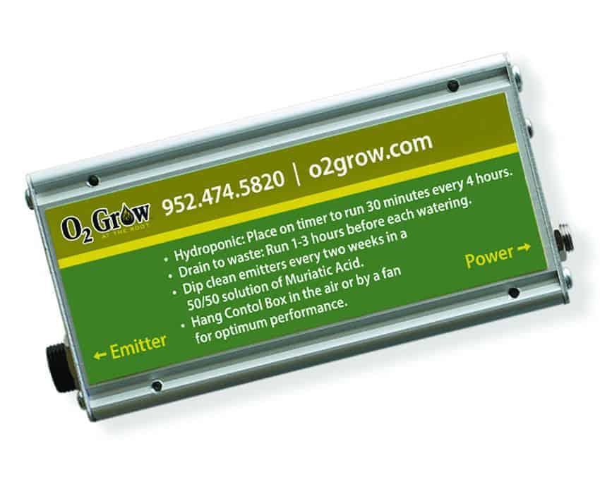 O2Grow Oxygen Emitter Nano Bubbles 2010 Control Box